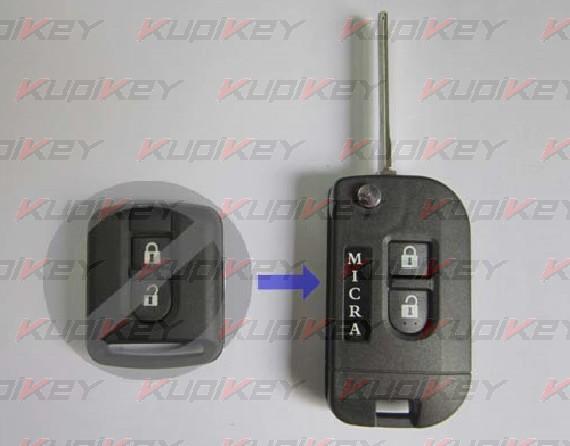 Nissan Micra корпус выкидного ключа [nis-k03]