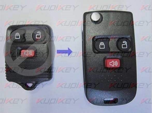 Ford 3 кнопки корпус выкидного ключа [ford-k04]