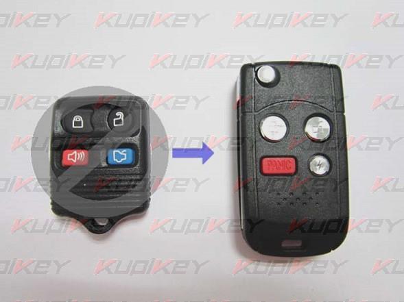 Выкидной ключ Ford 4 кнопки [ford-k07]