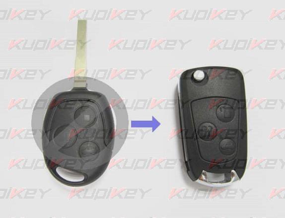 Выкидной ключ Ford Mondeo 3 кнопки [ford-k08]