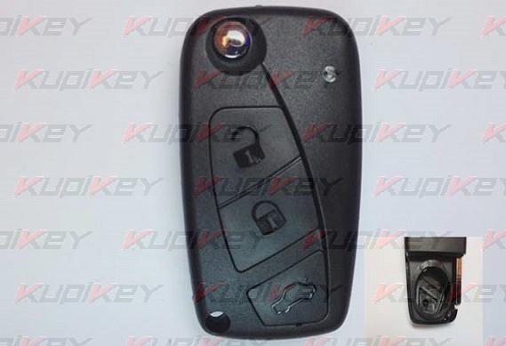 Выкидной ключ Fiat 3 кнопки [fiat-k05]