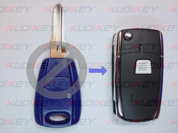 Выкидной ключ Fiat 1 кнопка [fiat-k06]